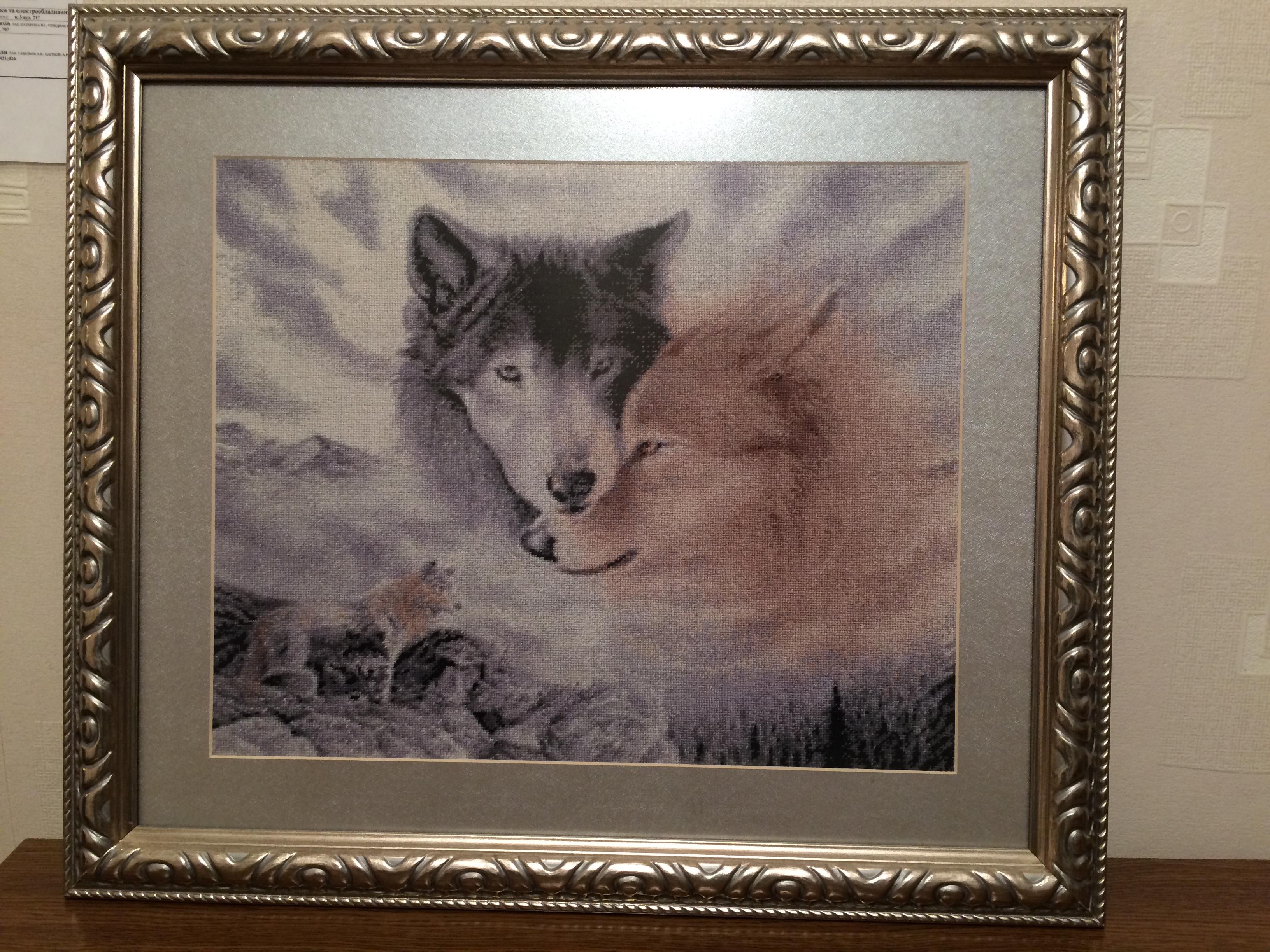 Волк вышивка что означает